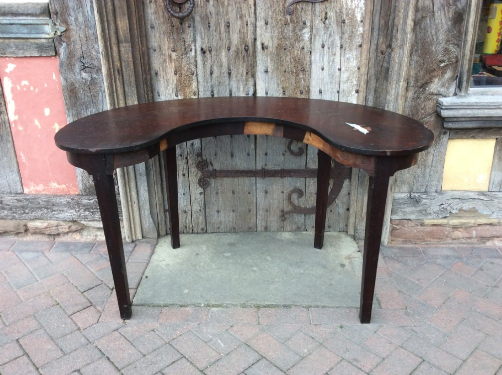 18thc mahogany kidney shape writinghunt table