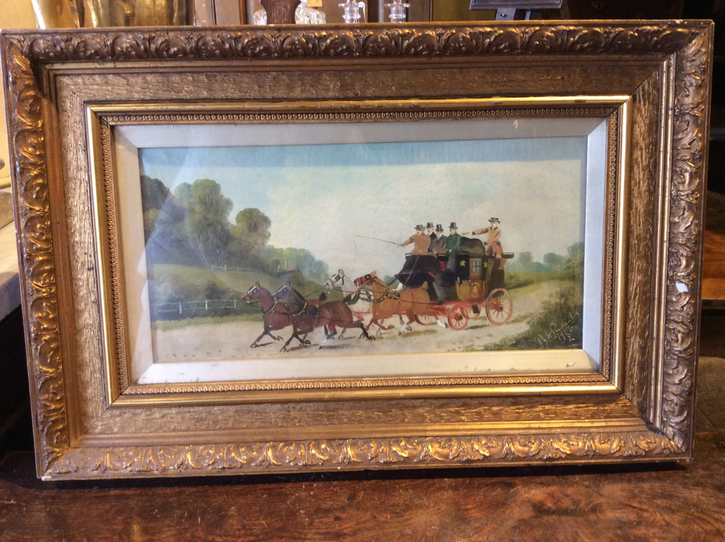 oil painting signed and dated 1906