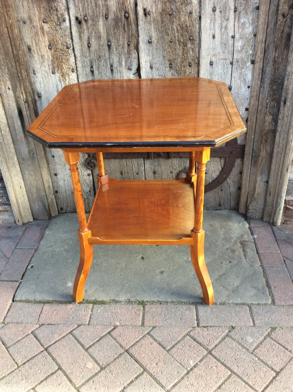 late 19thc two tier mahogany table