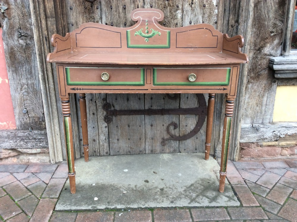 19thc painted pine washstand