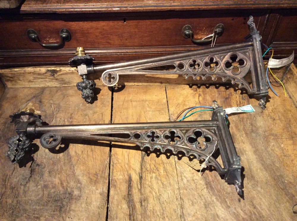 pair of victorian wall light brackets