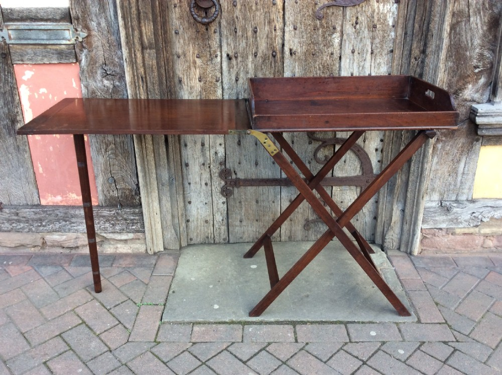 18thc mahogany butlers extending table and tray