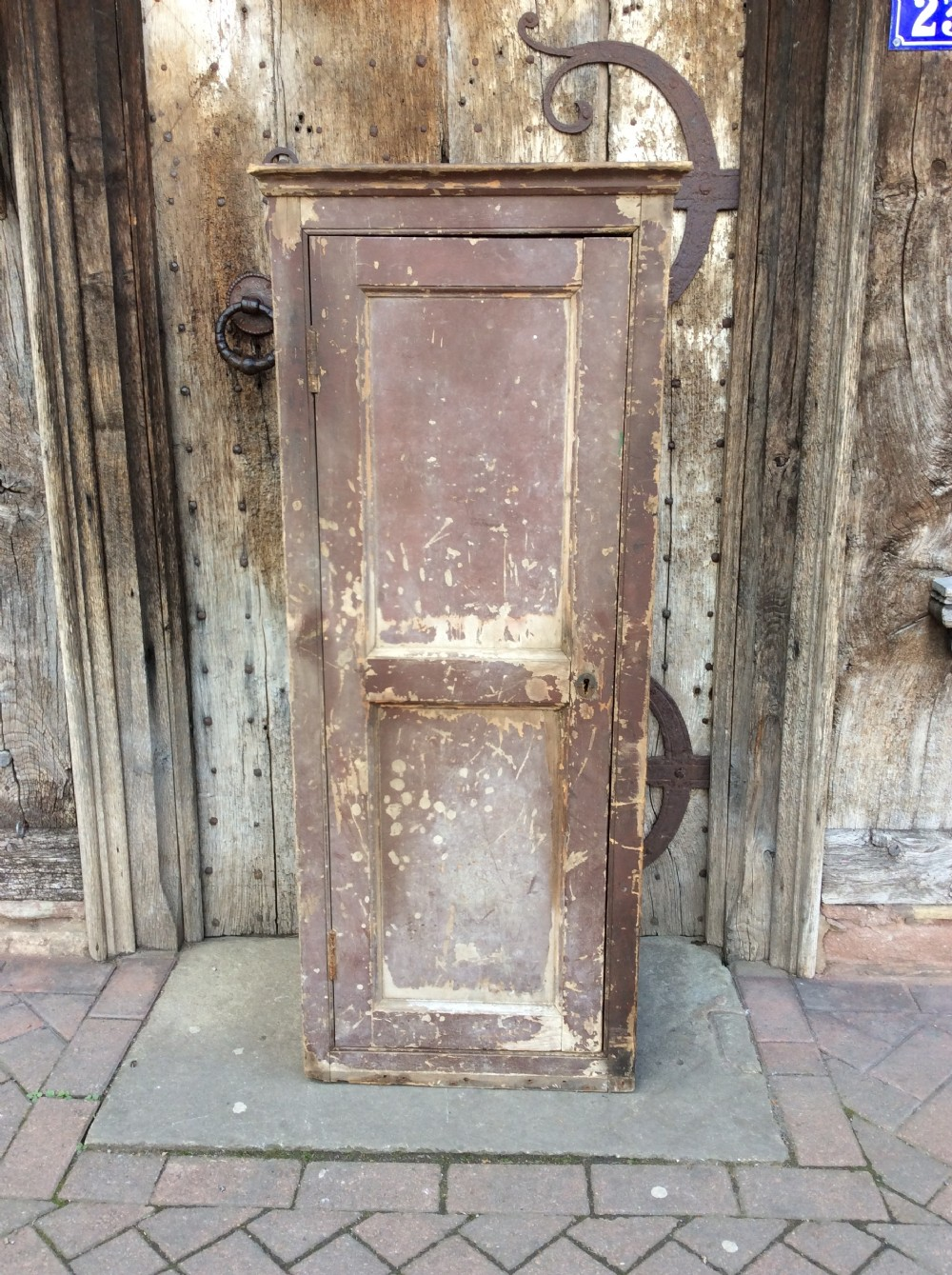 a 19thc country house painted pine cupboard