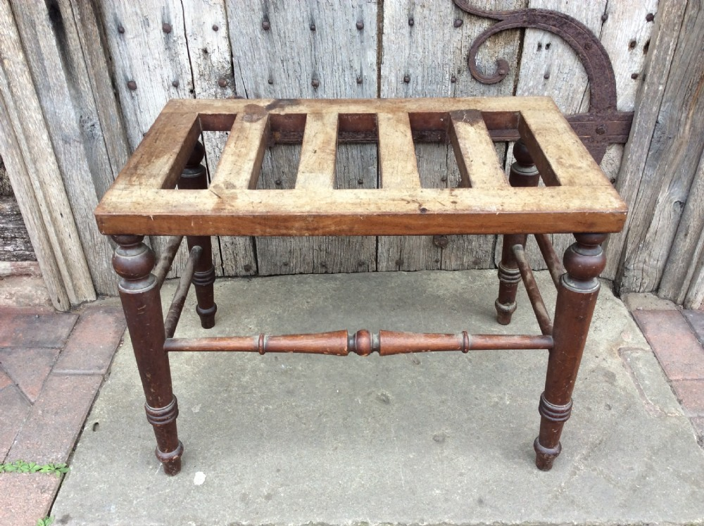 19thc walnut single luggage rack