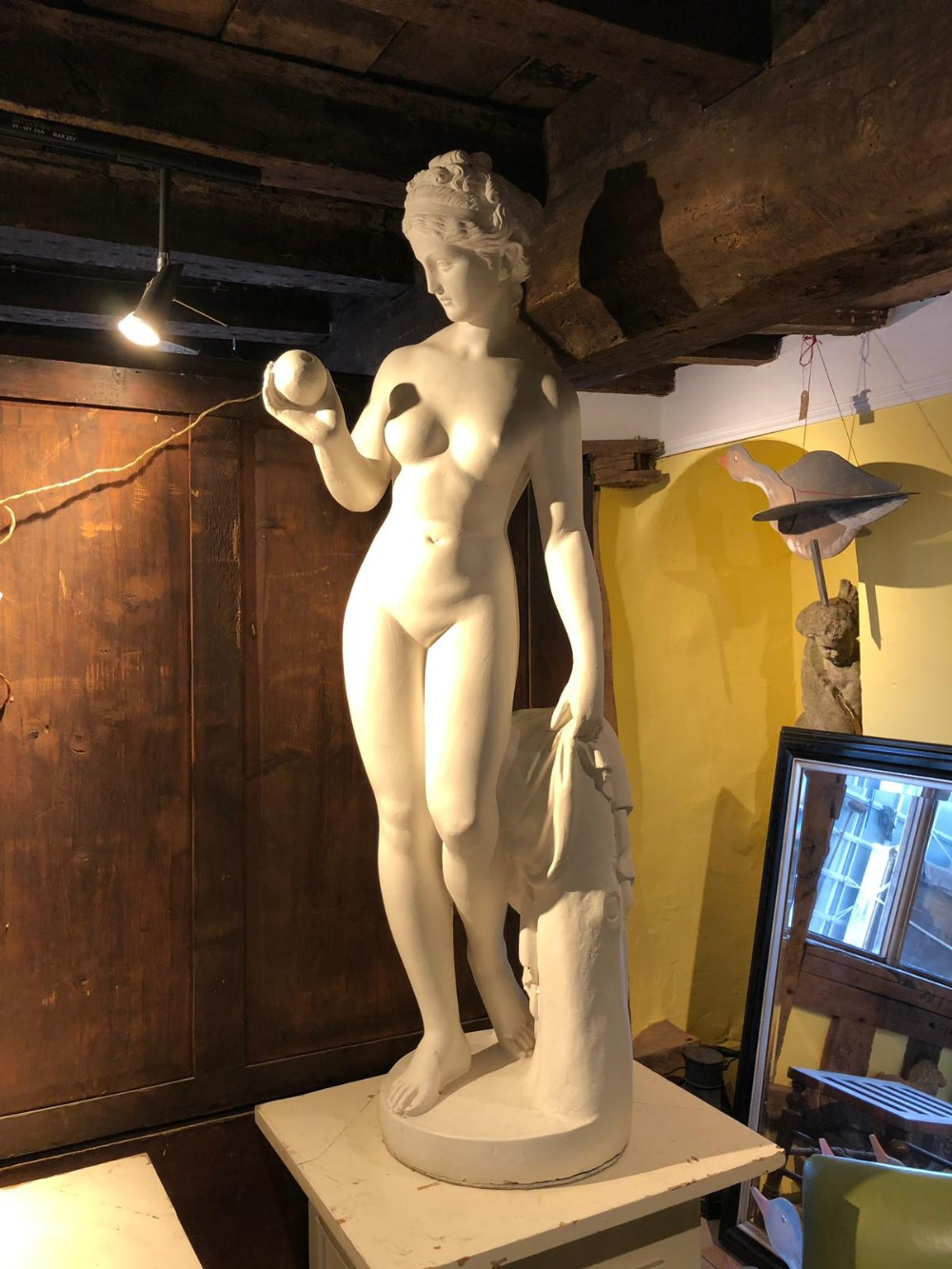 a mid 20thc plaster figure of a nude lady