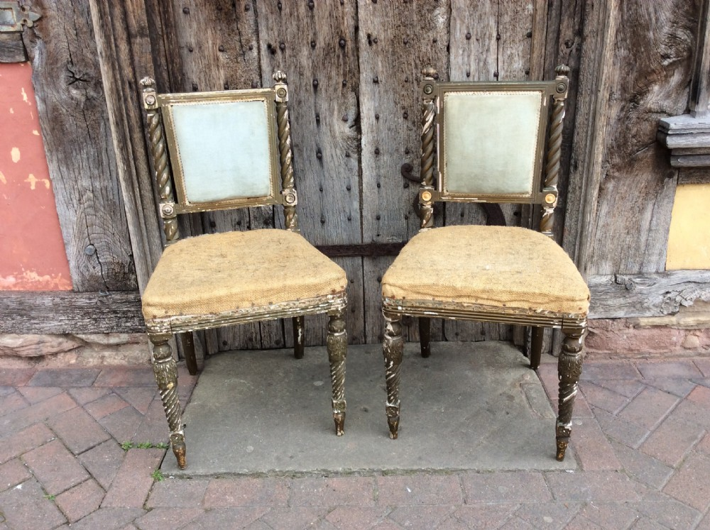 a pair of 19thc decorated chairs