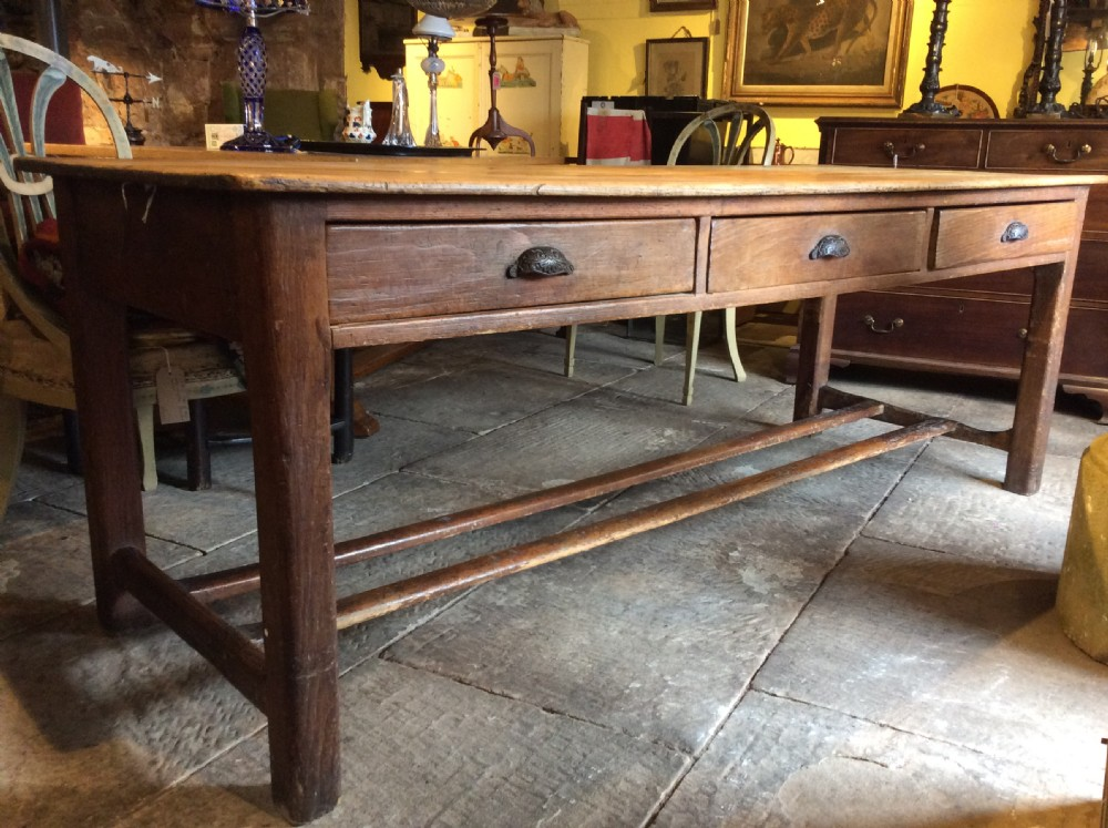 19thc pine refectory table