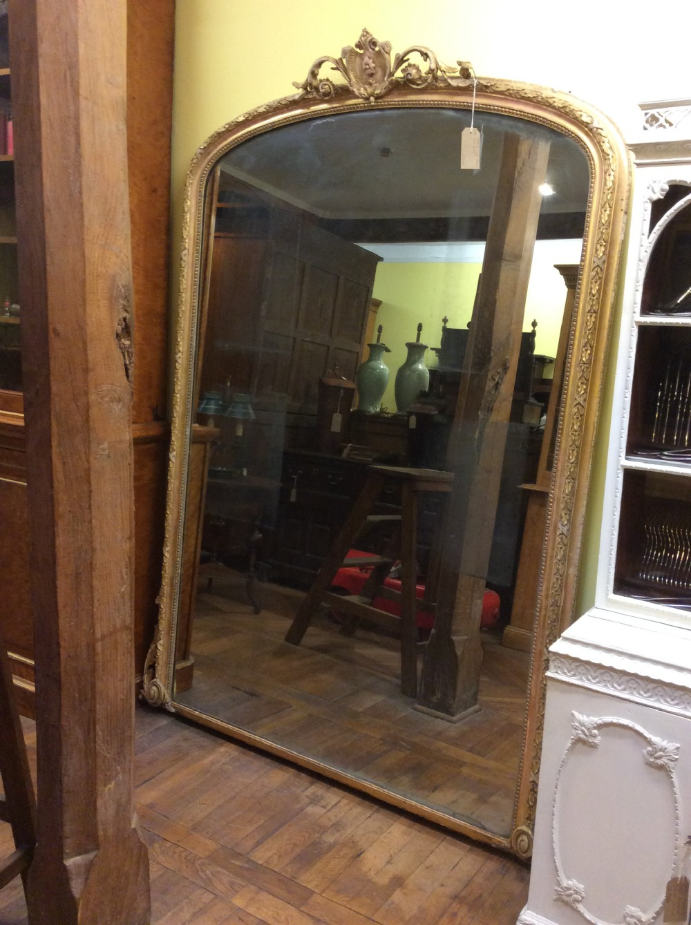 19thc large french pier mirror