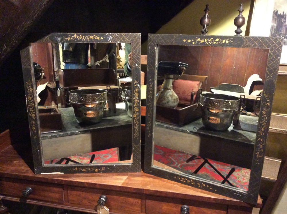 a pair of 20thc decorated frames
