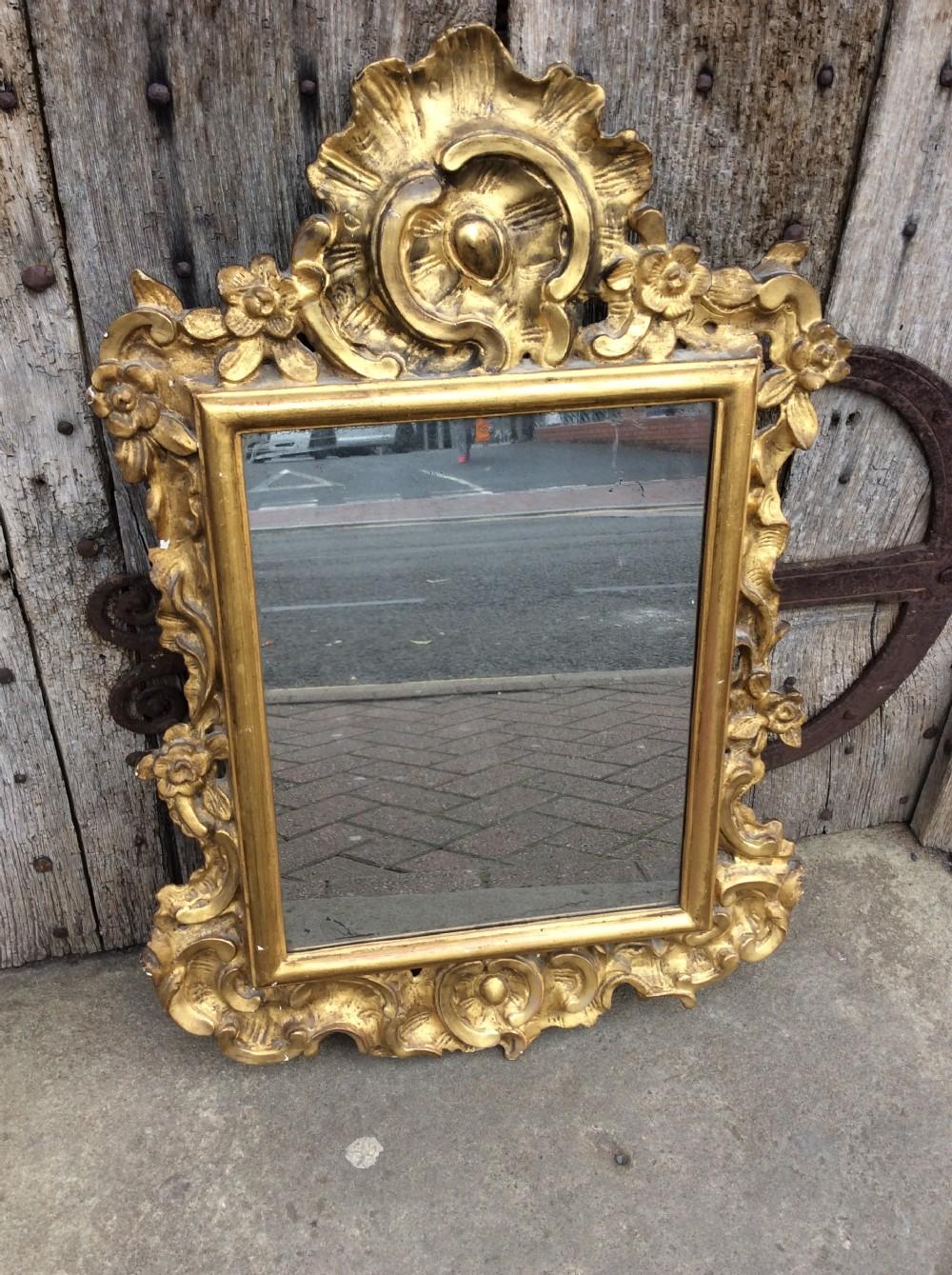 an 18thc italian carved gilded mirror