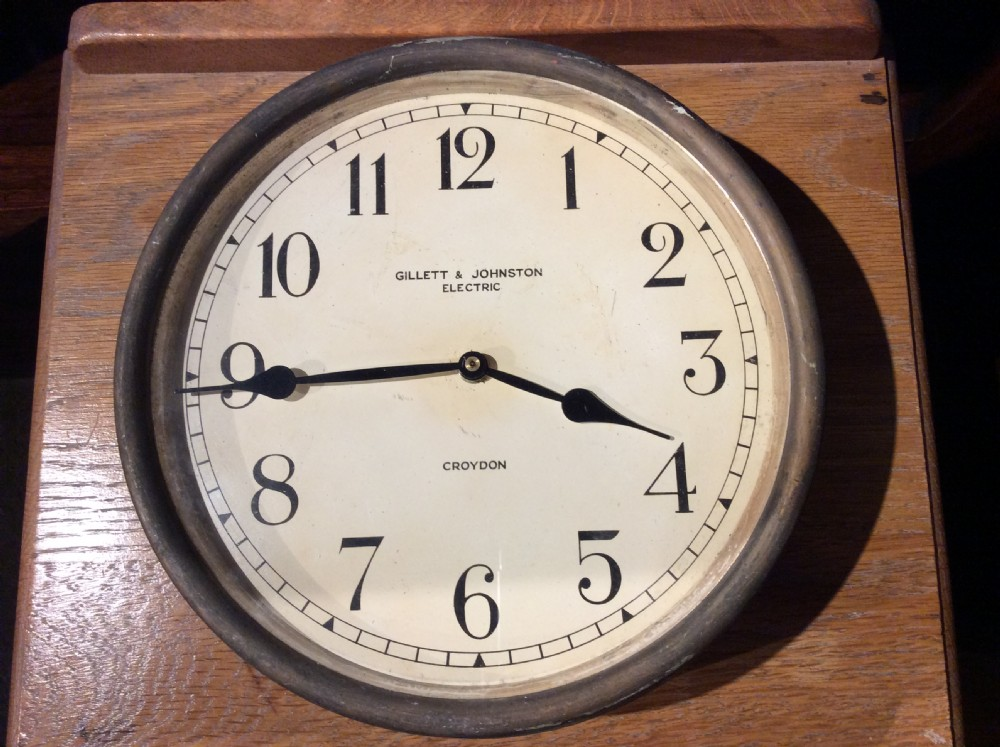 a 1920s brass and copper case clock