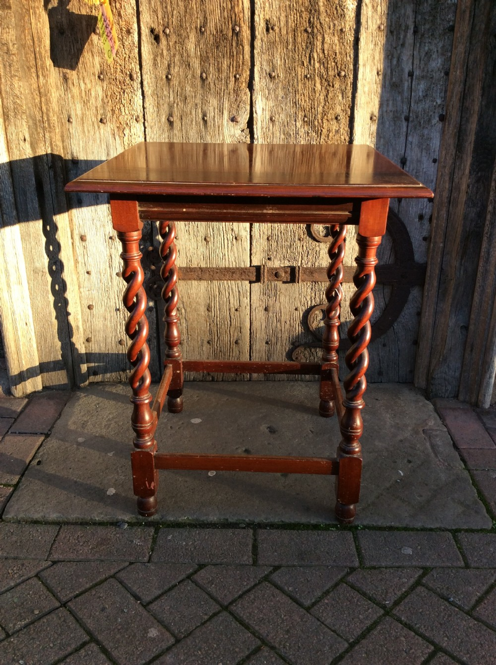 an early 20thc mahogany table